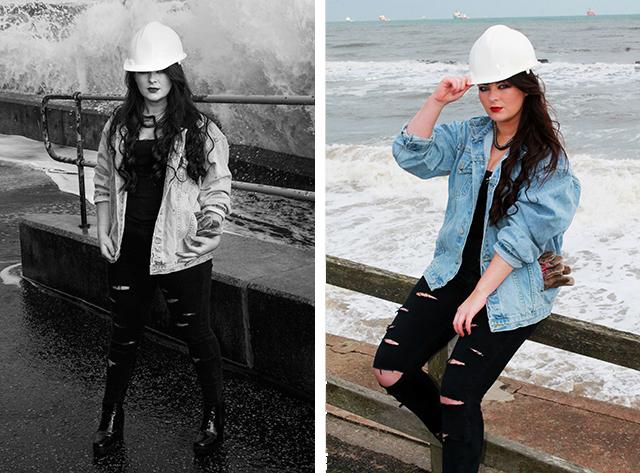 fashion student photoshoot aberdeen beach