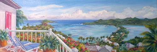 St. Bart's Island custom oil painting