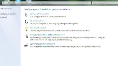 Installing Speech Recognition in Windows 7