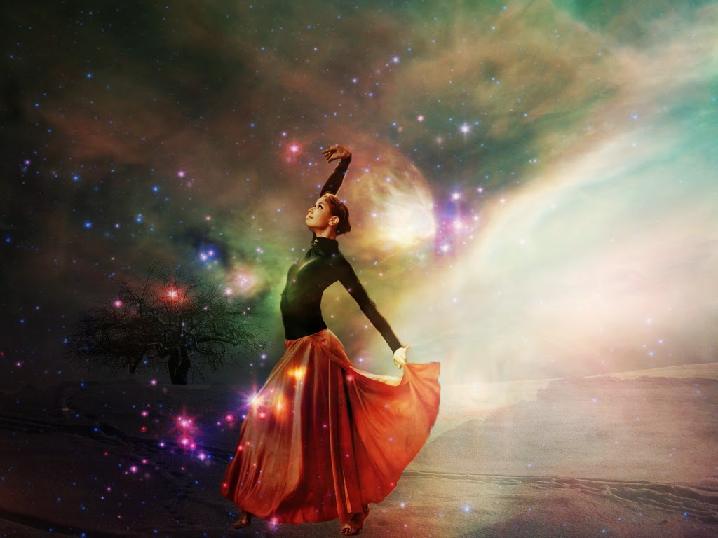 Dancing Woman Stars Universe