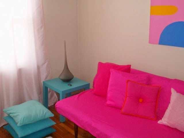 neon pink paint color for walls