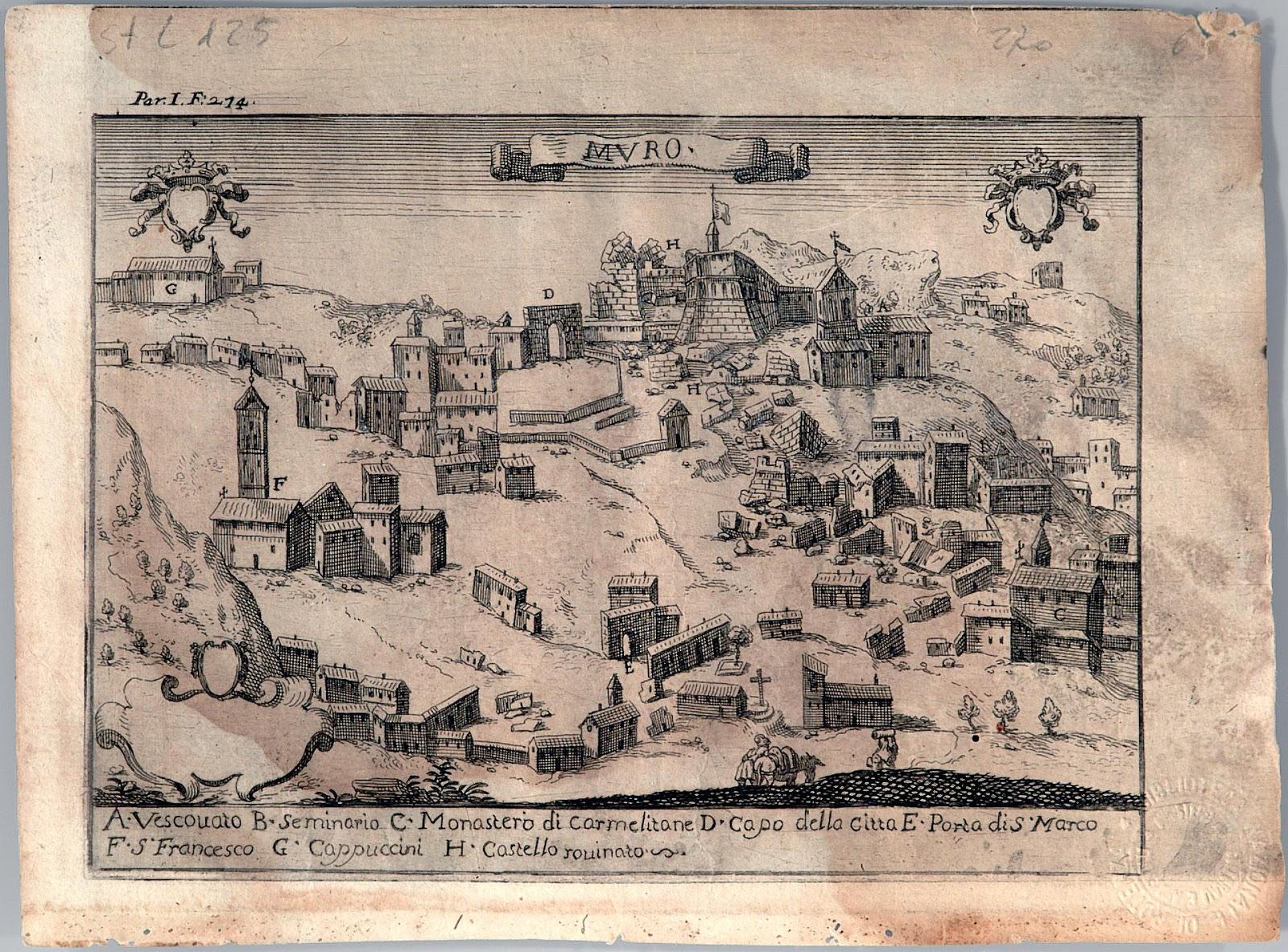 La città presentava un perimetro irregolare, in quanto le case ...
