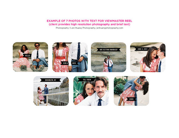 Order your own custom Viewmaster wedding invite