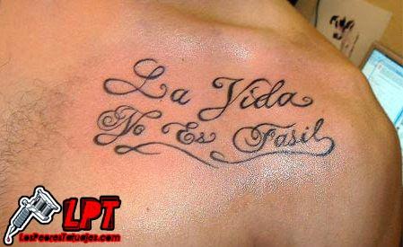 Tatuaje FAIL : Frase con error de ortografía