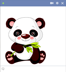 Panda Facebook Sticker Emoticon