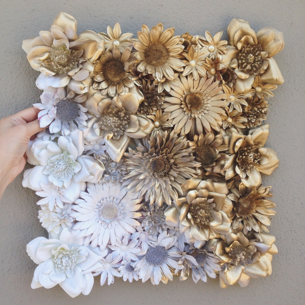 Joy caffeine diy floral ombr wall art after that spray paint them thoroughly with whatever colors and ombr fades you want make sure you do a second coat of mightylinksfo