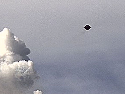 Disc UFO Next To Mexican Volcano 2015, UFO Sighting News