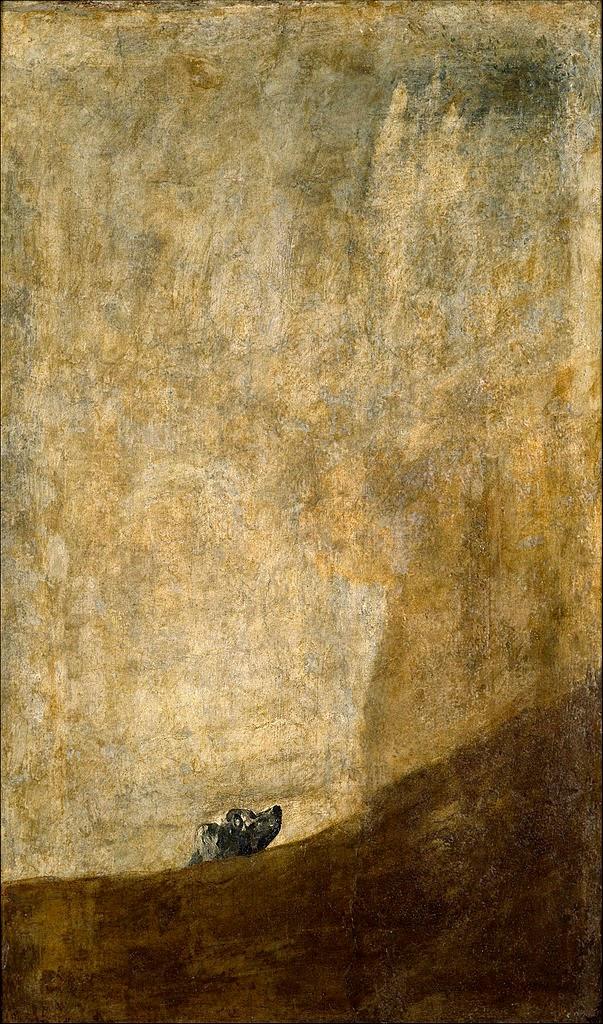 Perro semihundido (ca. 1820-1823)