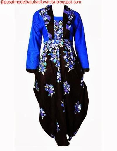 Model baju batik wanita sembilan pilihan variasi gambar Gambar baju gamis batik wanita
