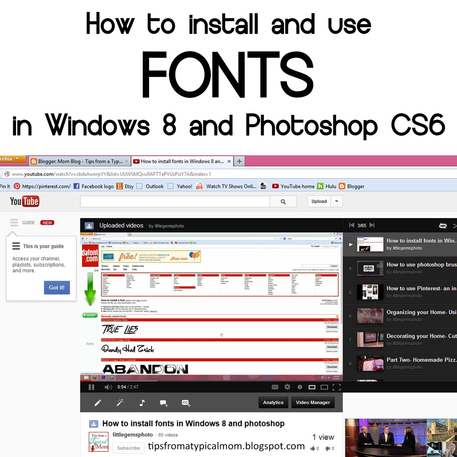 how to download fonts to photoshop