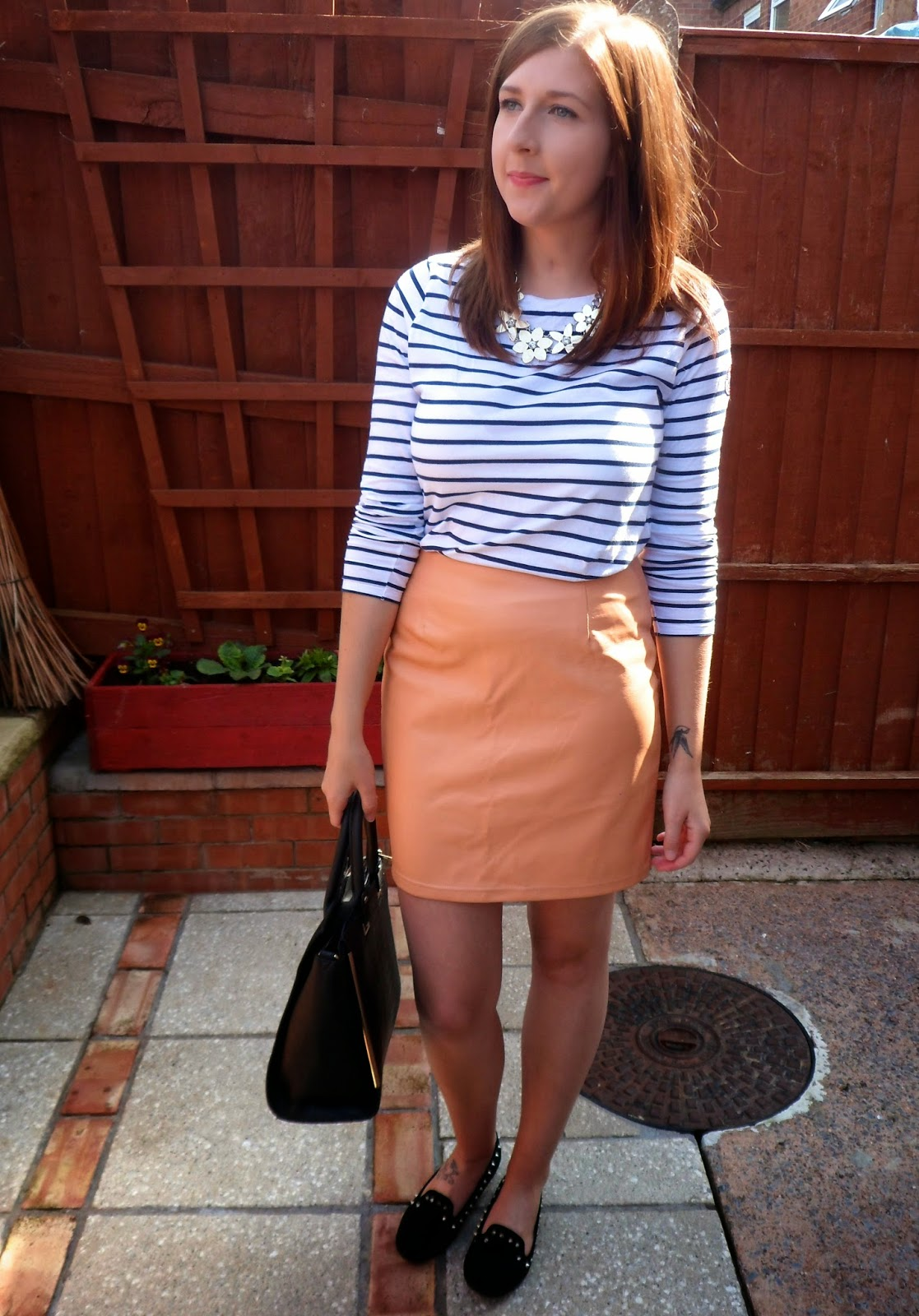 asseenonme, blackbag, breton, casuallook, fashionbloggers, fbloggers, feminine, ootd, outfitoftheday, primark, skirt, puskirt stripedtop, tkmaxx, newlook, whatibought, whatimwearing, wiw