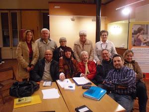 Con el grupo de Poesía de Vilassar de D'alt