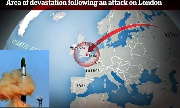 Σε 13 λεπτά η Βρετανία εξαφανίζεται από τον χάρτη – Πρωτοφανής προειδοποίηση από τη Ρωσία(βίντεο)