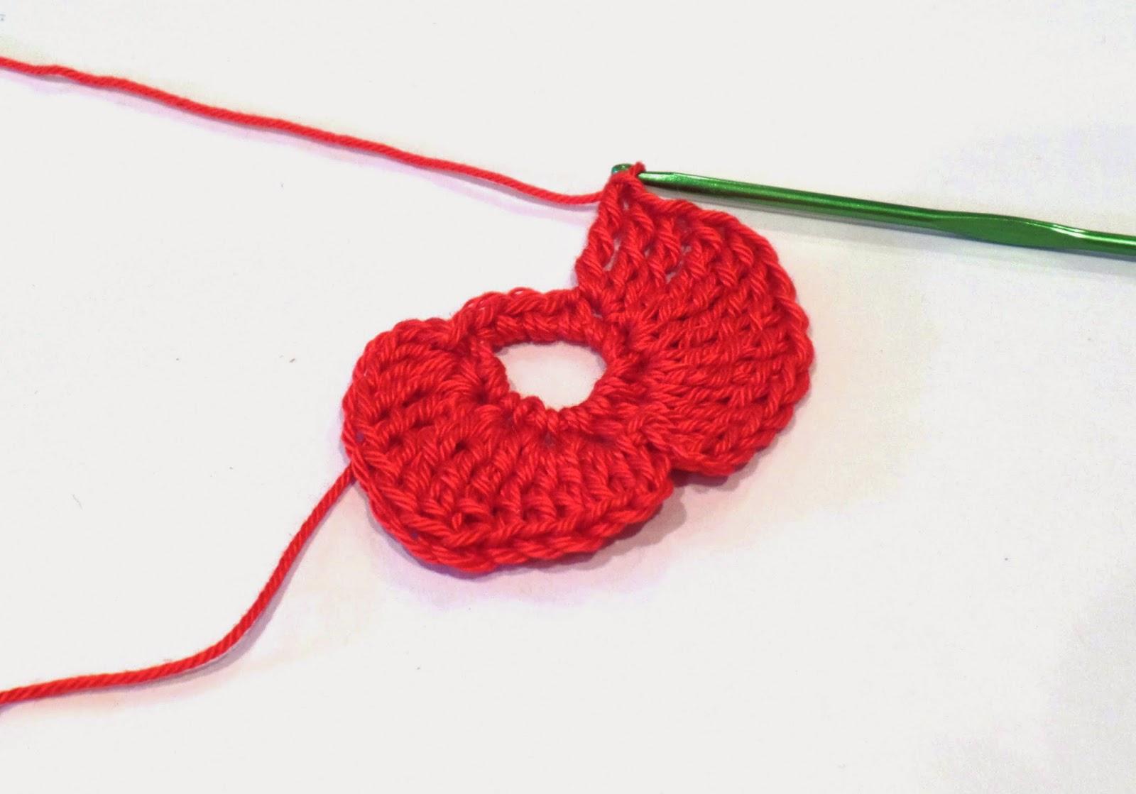 WWI crochet poppy