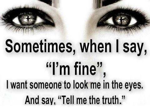 when a guy says i m fine