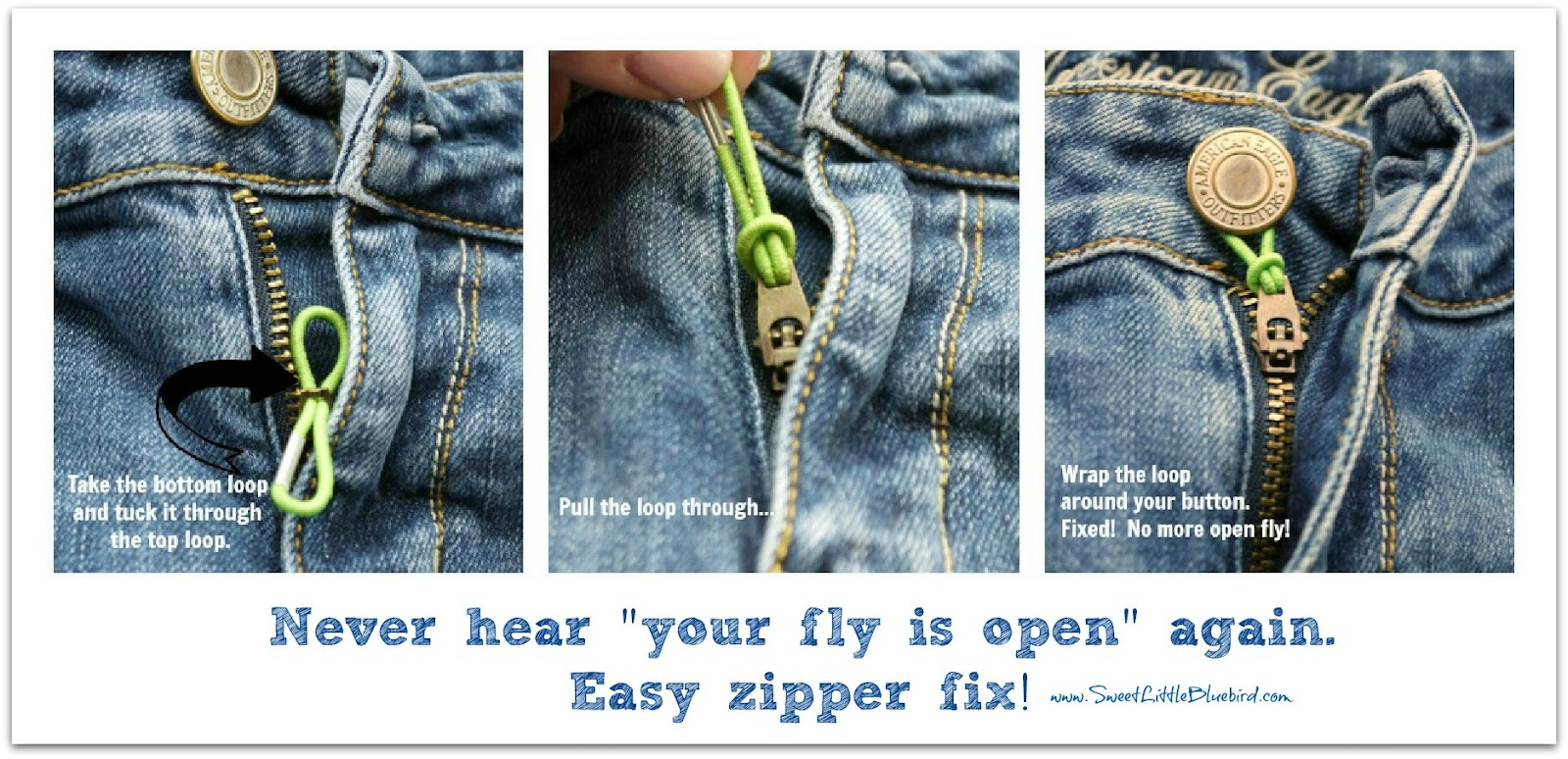 Quick Fixes For Loose Zippers and Too Tight to Button ...