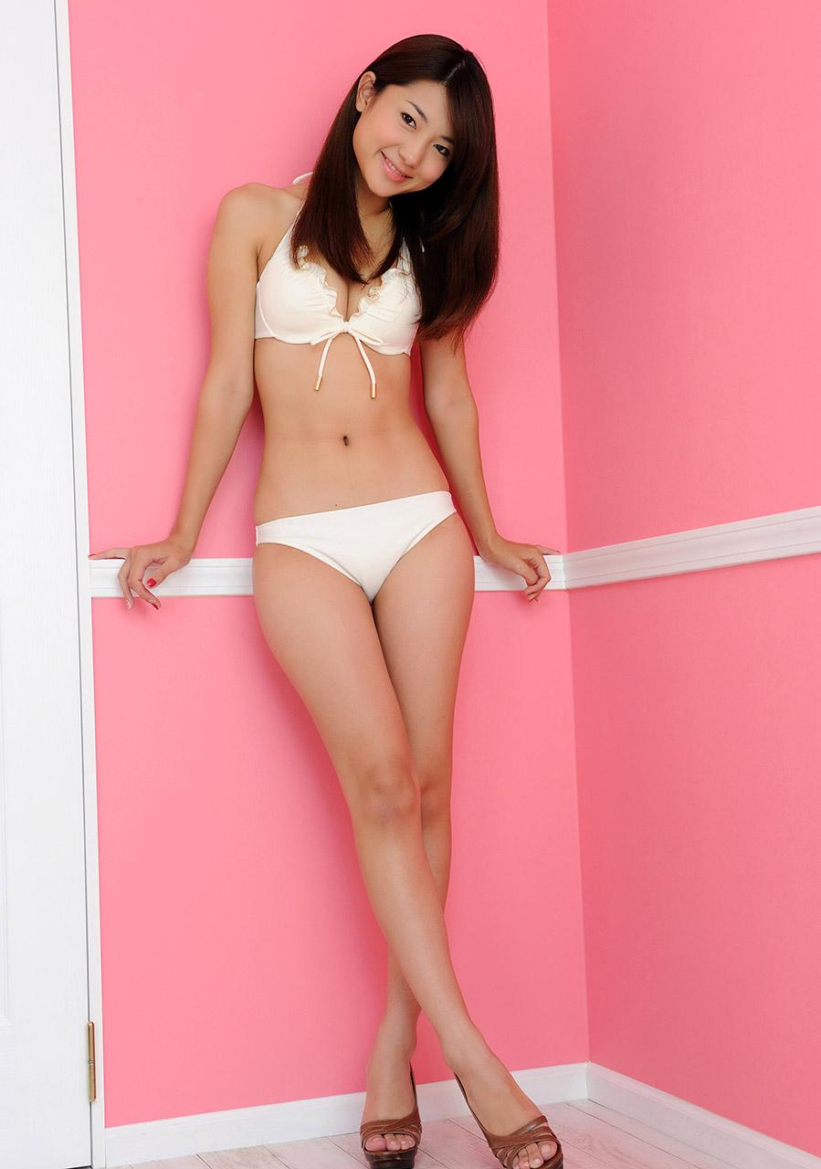 naoho ichihashi sexy white bikini photo 02
