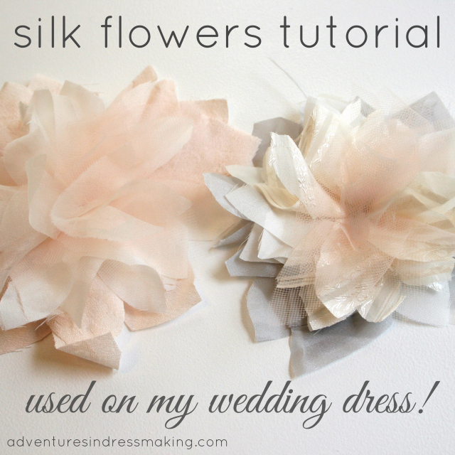 My wedding dress flowers tutorial create enjoy 7272011 mightylinksfo