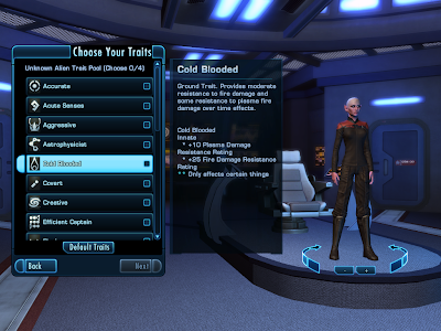 Star Trek Online - Choosing Traits