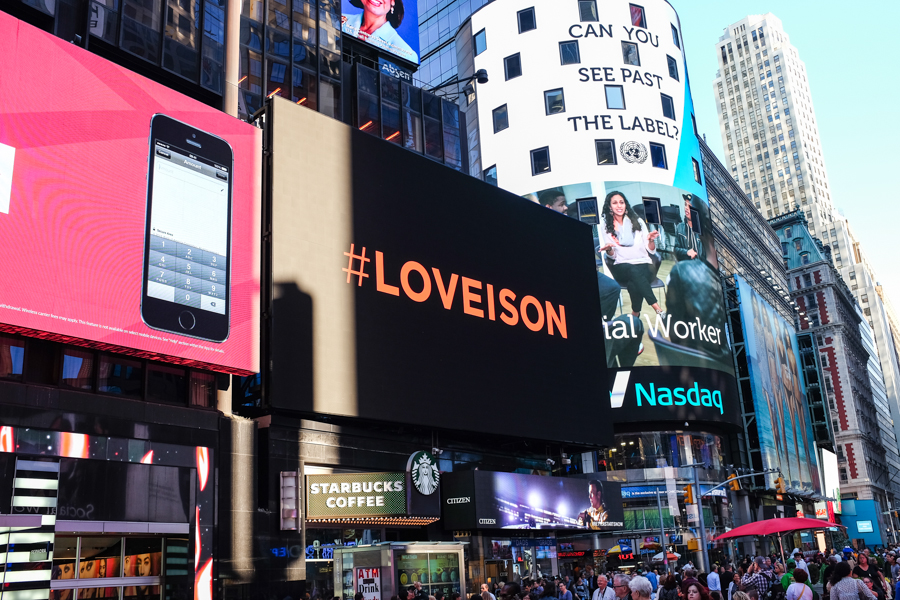 Levitate Style #LoveIsOn Times Square