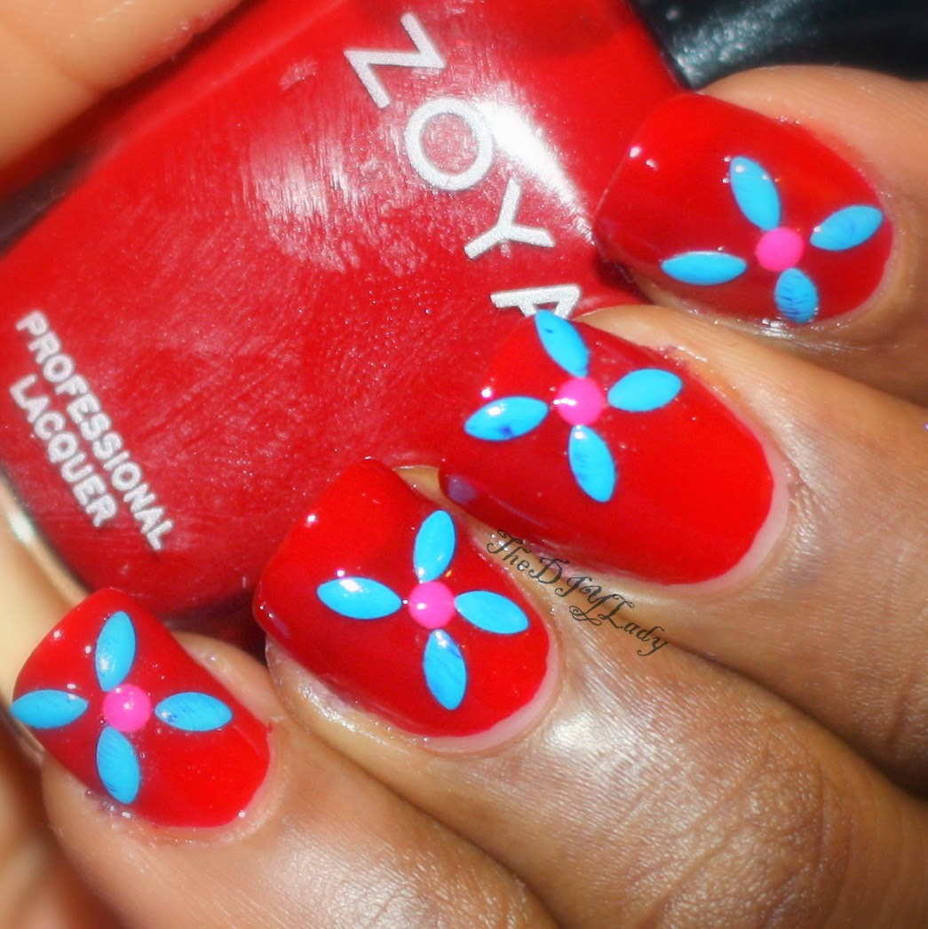 The do it yourself lady flower nail art with neon studs so if you plan on having the studs on your nails for about a week or more id use glue or extra topcoat to seal the studs in solutioingenieria Image collections