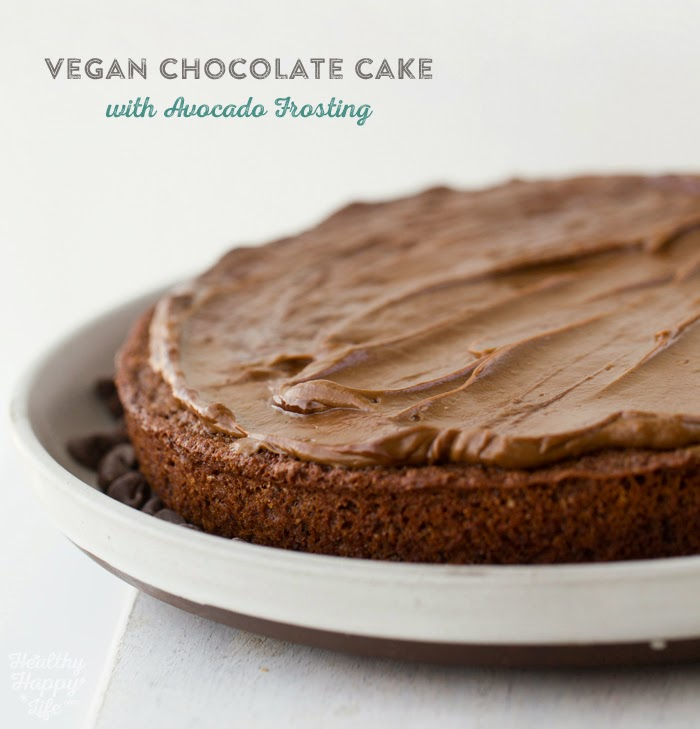 Vegan Chocolate Cake with Avocado Frosting