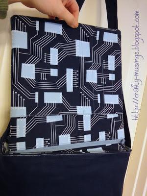 Amy Butler High Street Messenger Bag, hanging tool pouch
