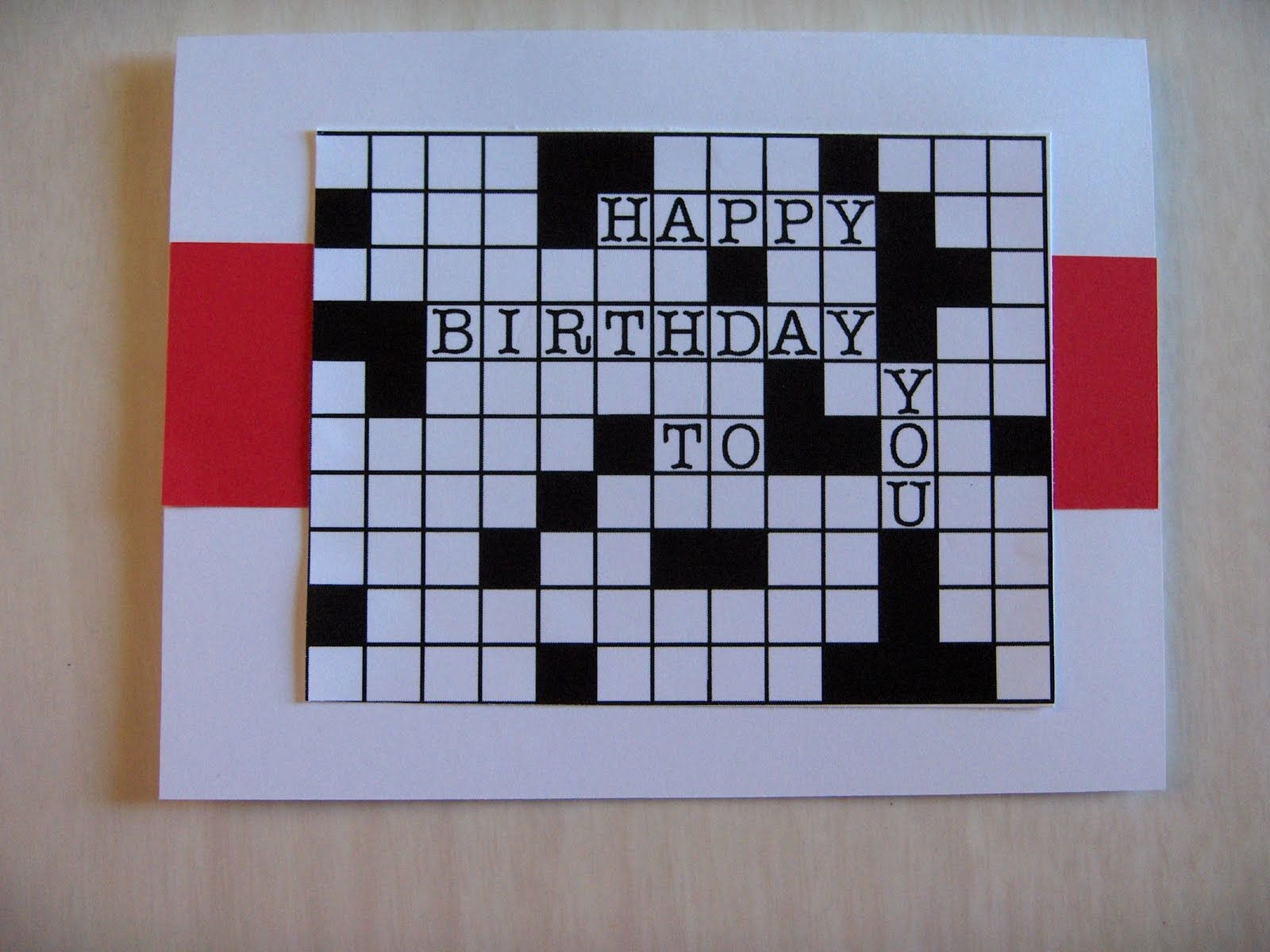 Rhapsody of Cacophony Dad s Crossword Birthday Card
