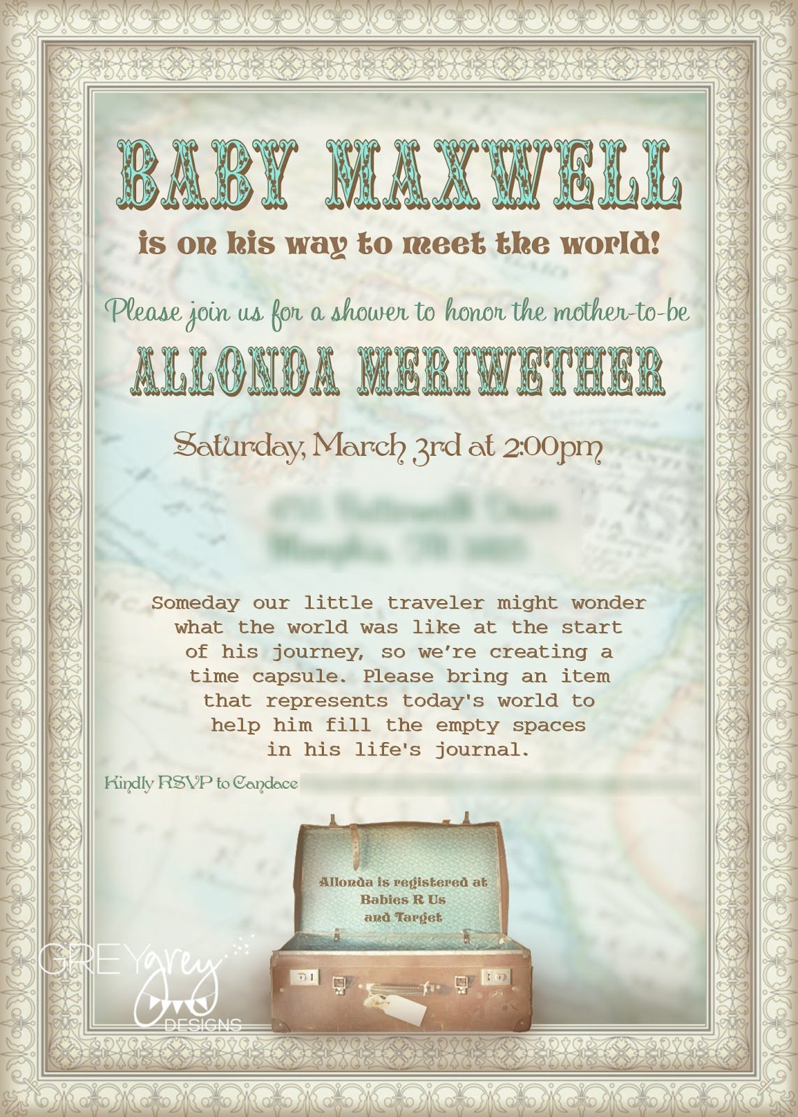 GreyGrey Designs: {My Parties} Boy Meets World Baby Shower
