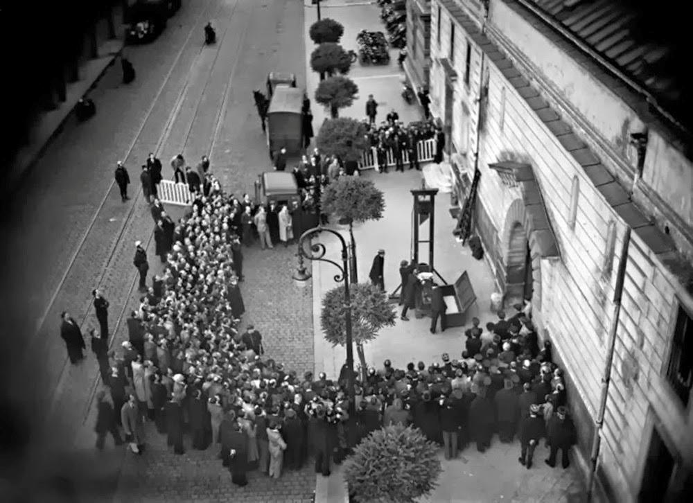 La última ejecución pública por Guillotina, Francia, 1939
