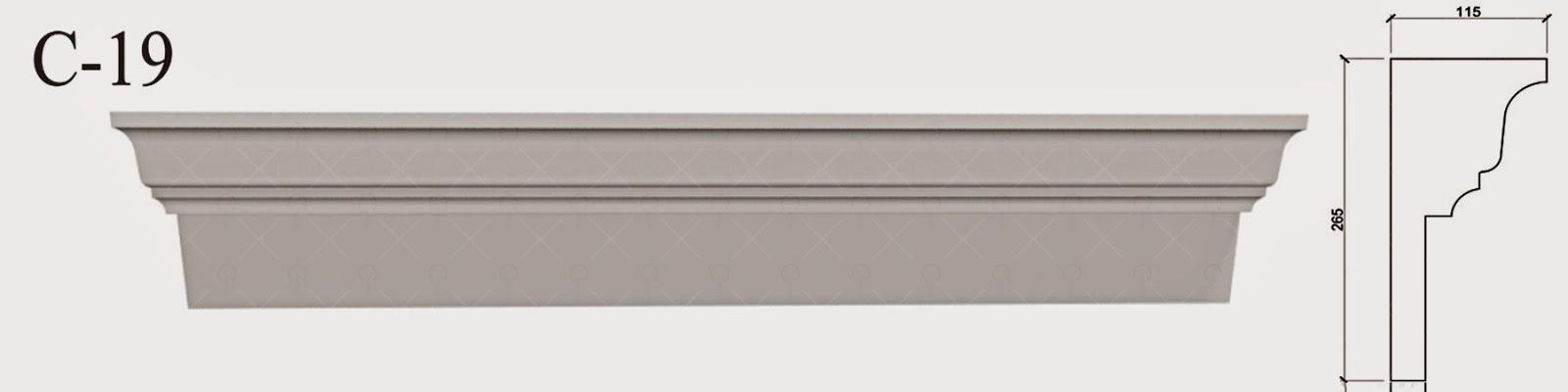 Cornisa Moderna - Baghete Polistiren pentru fatade case pret, profile decorative personalizate