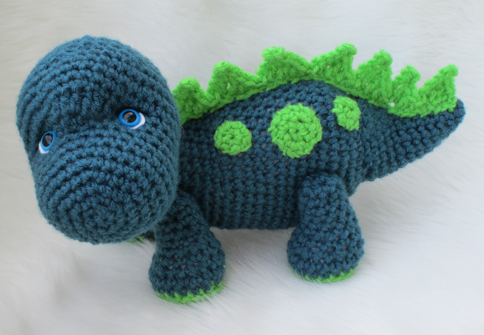 Free Crochet Pattern For Dinosaur Beanie : Teris Blog: Cute Dinosaur