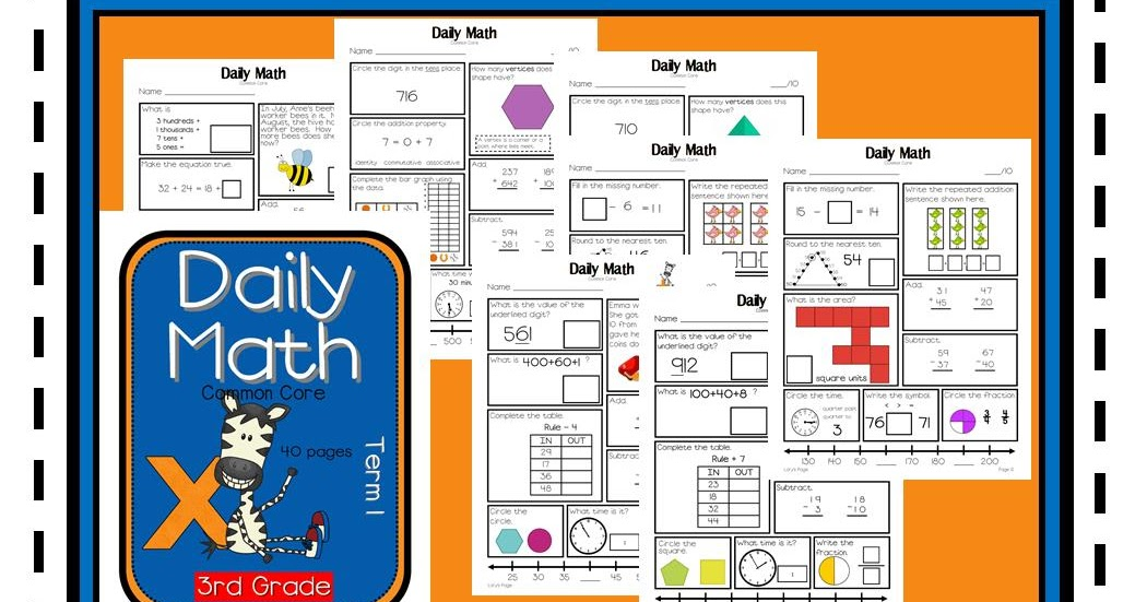 3rd Grade Daily Math - Term 1 POSTED