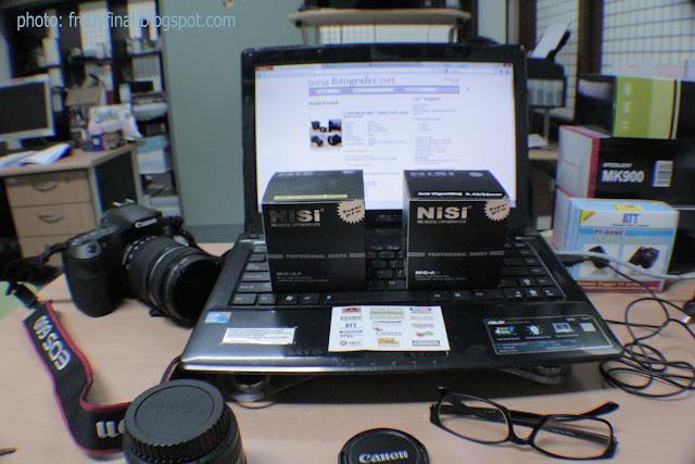 ... lensa wide NiSi 0.45X Anti vignetting (tanpa bingkai hitam sudut