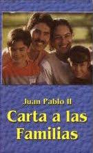 JUAN PABLO II: Carta a las familias