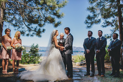 Lakeside wedding ceremony at the Gatekeeper's Museum Tahoe l Sun + Life Photo l Johnny B Video l Take the Cake Event Planning