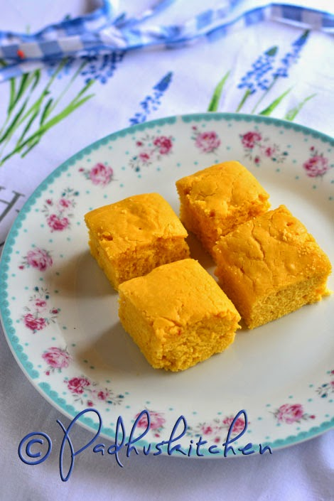 Eggless Custard Powder Cake