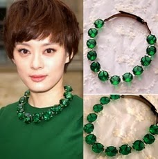 Emerald Green Acrylic Necklace