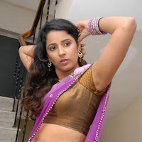 Sravya reddy latest hot naval show photos in saree