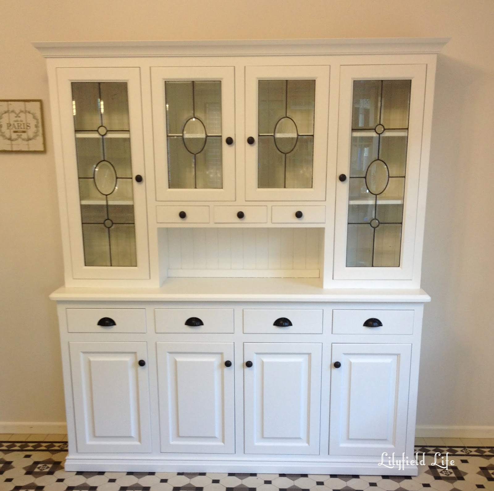 White Kitchen Buffet: Lilyfield Life: White Painted Kitchen Hutch