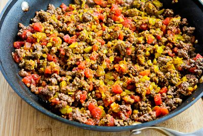... Middle Eastern Spicy Ground Beef with Baharat Seasoning, Mint, and