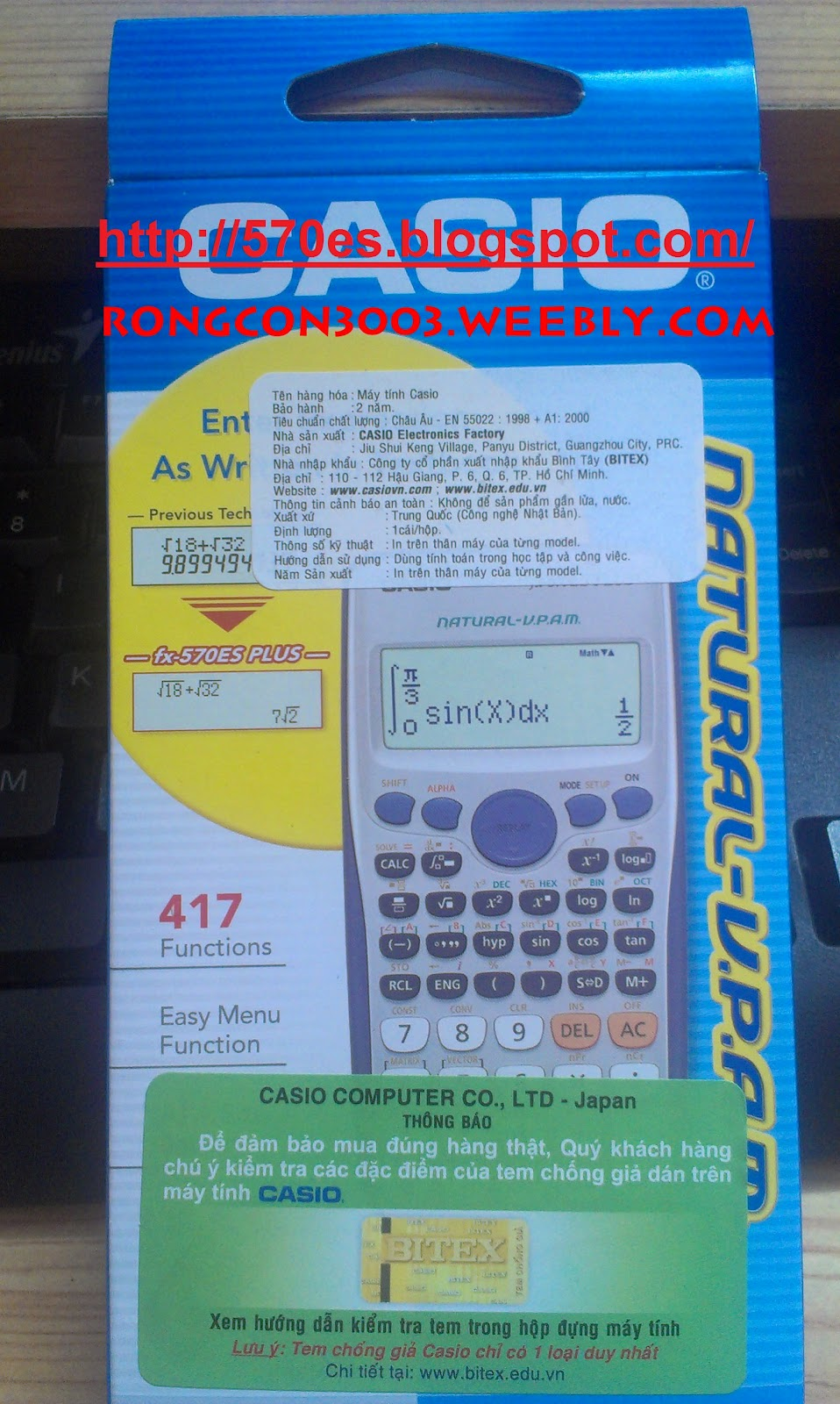 Bn My Tnh Hc Sinh Casio Fx 570es Plus Chnh Hng Scientific Calculator Sau Khi Thanh Ton Vui Lng Pm Vo Nick Ym Rongcon3003 A Ch Email Nhn Ngy Gi T Cm N Cc