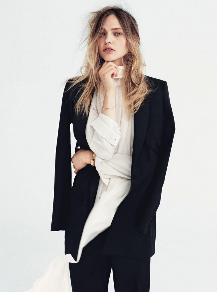 Sasha Pivovarova for Vogue UK July 2014 photographed by Daniel Jackson, styled Kate Phelan