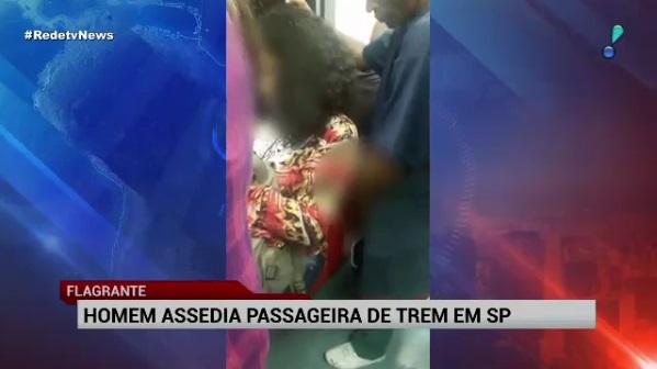 Vídeo flagra homem encostando pênis em passageira de trem da CPTM