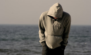 Sad boy in dard alone near sea in love HD Image wallpapers