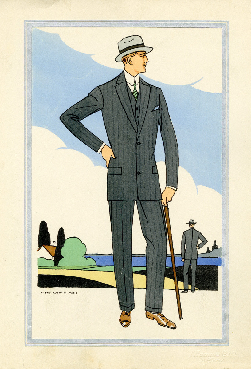 1920s men s fashion illustrations amazing facts