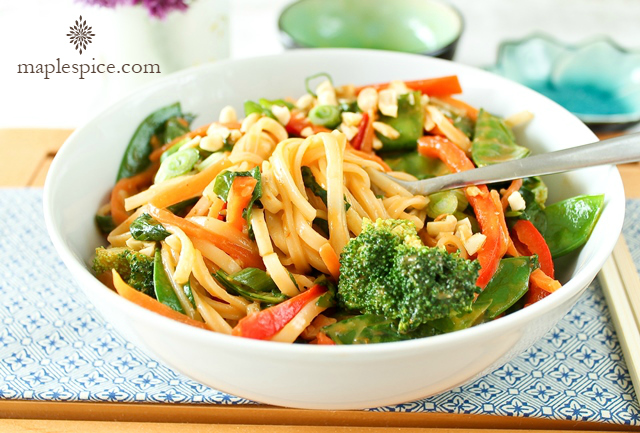 Rice Noodle Stir-Fry with Peri-Peri Coconut Cream Sauce