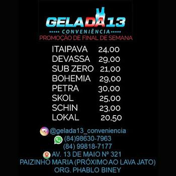GELADA 13 CONVENIÊNCIA