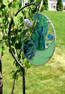 Leslie has been creating stained glass pieces for two years. She especially enjoys the challenge...