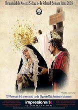 Cartel de la Hermandad de Nuestra Señora de la Soledad y María Santísima de la Amargura 2018